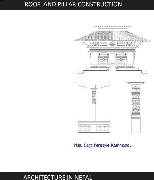 `` ROOF AND PILLAR CONSTRUCTION Maju Dega Peristyle,Kathmandu `` ARCHITECTURE IN NEPAL