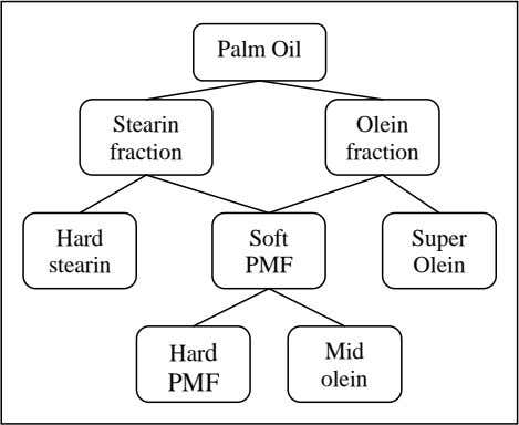 the composition of the oil phase and the water-to-oil ratio. Palm Oil Stearin Olein fraction fraction