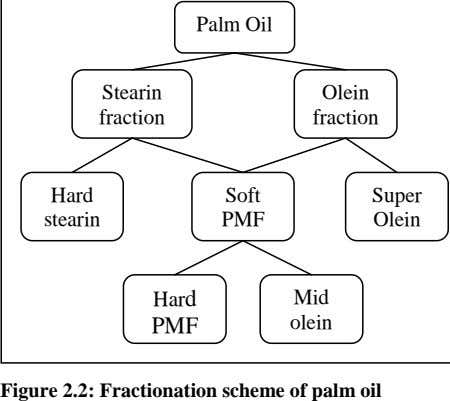 Palm Oil Stearin Olein fraction fraction Hard Soft Super stearin PMF Olein Hard Mid PMF
