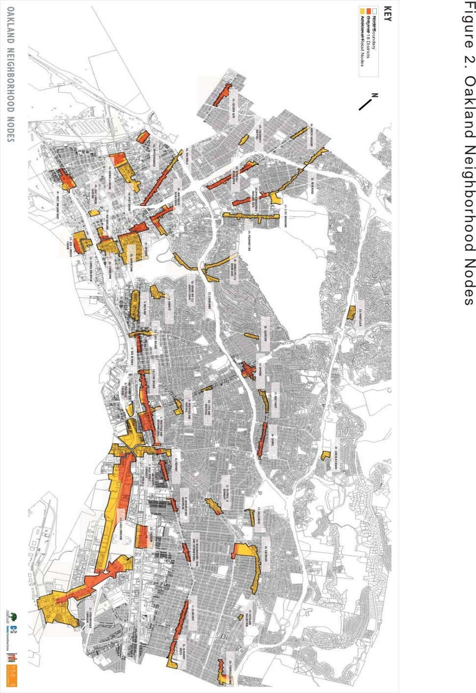 Figure 2. Oakland Neighborhood Nodes Node Boundary Original 18 Districts Additional Retail Nodes