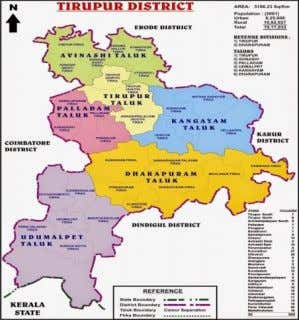 the Tirupur district map which is adopted in this study Figure 3 Tirupur district map Volume