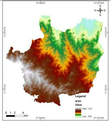 data Figure 8. Shows the SRTM DEM image of the study Figure8 SRTM DEM Image Figure