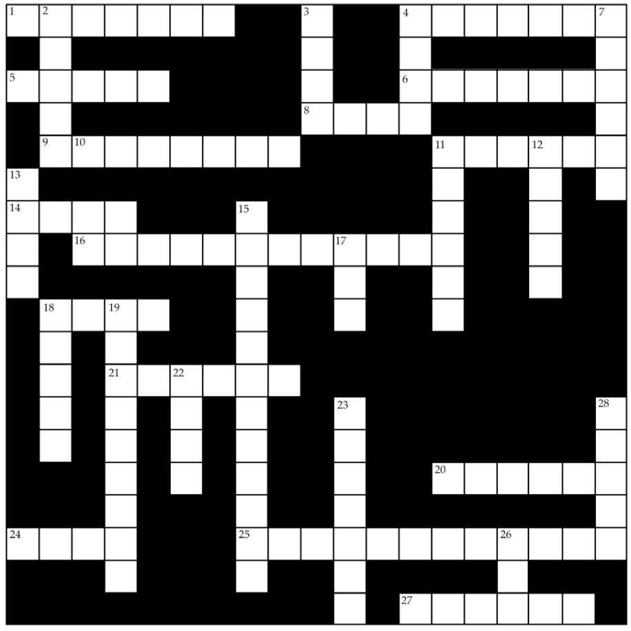 Minnesota 4-H Horseless Project Leader Guide Crossword Puzzle 17