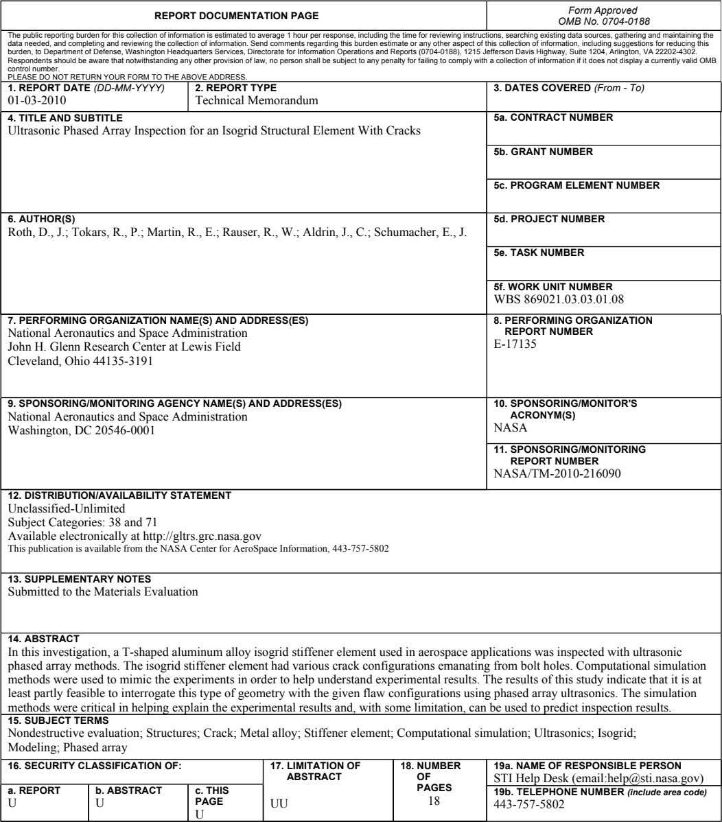 Standard Form 298 (Rev. 8-98) Prescribed by ANSI Std. Z39-18