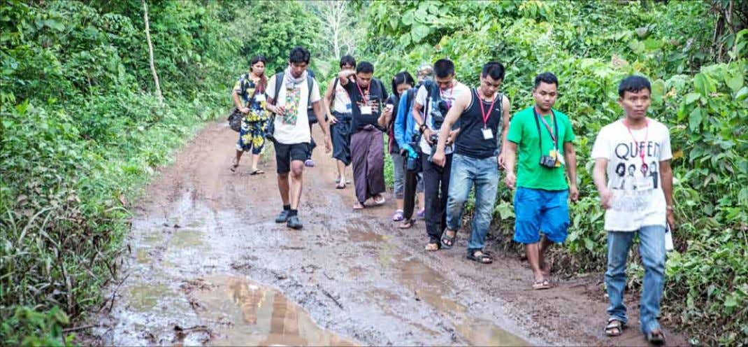 News THE MYANMAR TIMES JUNE 23, 2015 LAW KHEE LAR, KAYIN STATE FEATURE Reporters trudge through