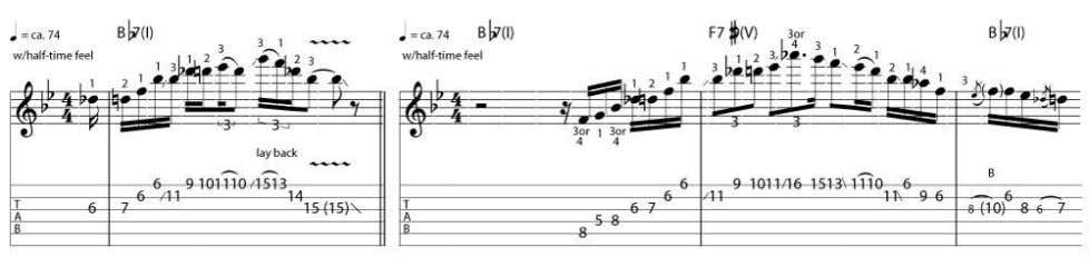NUMBER 8 - FINESSE THE V CHORD Detouring briefly from the blues, the arpeggiated Gsus2