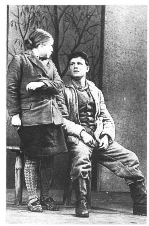 Th e Kleinschmidts' daughter Elli with her admirer Hermann - 'not simpl y a careerist