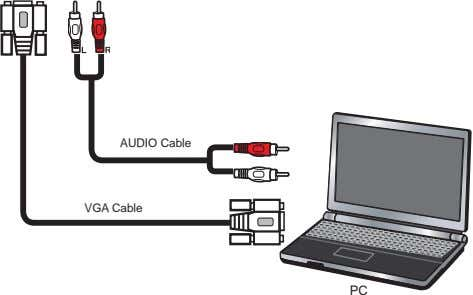 AUDIO Cable VGA Cable PC