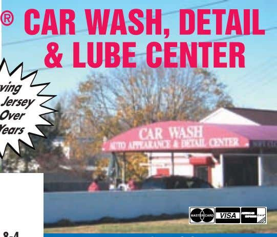 CAR WASH, DETAIL & LUBE CENTER MASTER CARD VISA Card ®