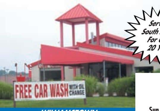 VISA Card ® Serving South Jersey For Over 20 Years ALL LOCATIONS CAR WASH HOURS (Weather