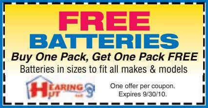 FREE BATTERIES Buy One Pack, Get One Pack FREE Batteries in sizes to fit all