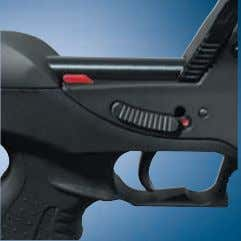 and integral lock to protect against unauthorized use. Slide safety The ambidextrous safety is in a