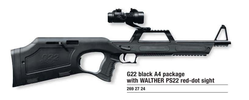 G22 black A4 package with WALTHER PS22 red-dot sight 269 27 24