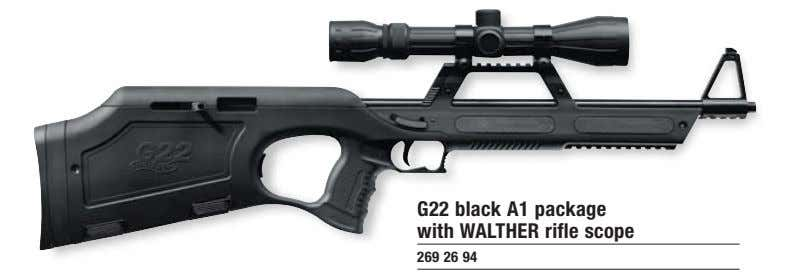 G22 black A1 package with WALTHER rifle scope 269 26 94