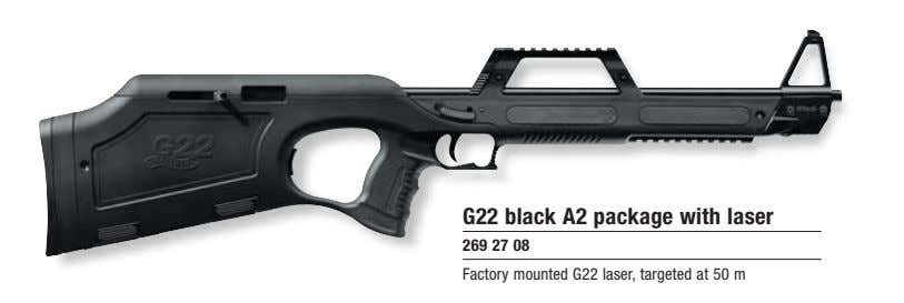 G22 black A2 package with laser 269 27 08 Factory mounted G22 laser, targeted at