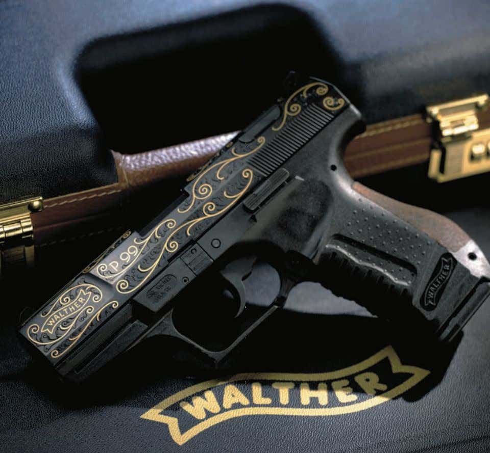 P99 Collector's Series WALTHER engraved pistols are a true work of art, coveted by collectors