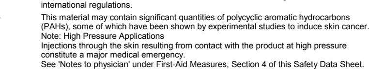 a major medical emergency. See 'Notes to physician' under First-Aid Measures, Section 4 of this Safety