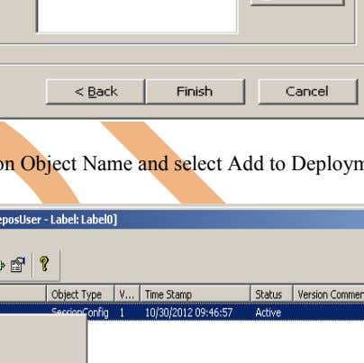Now click on Preview button to add Deployment Groups. Step-11 Right click on Object Name and