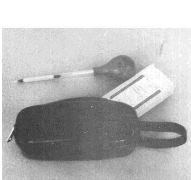 Above: A smoke tube, which is one type of chemical smoke device. Used to observe patterns