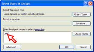 the [Group or User names] to register a user to be allowed. Step Install the SHARP