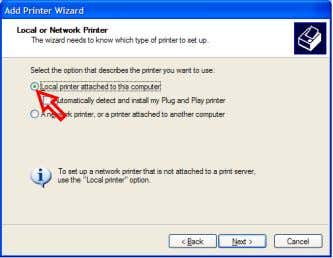 in the Control Panel and click on the [Add a printer]. Memo: Do not check on