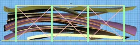 roof, showing the segmentation and internal stringers Figure 14-17. 3D drawings of the transportation of the