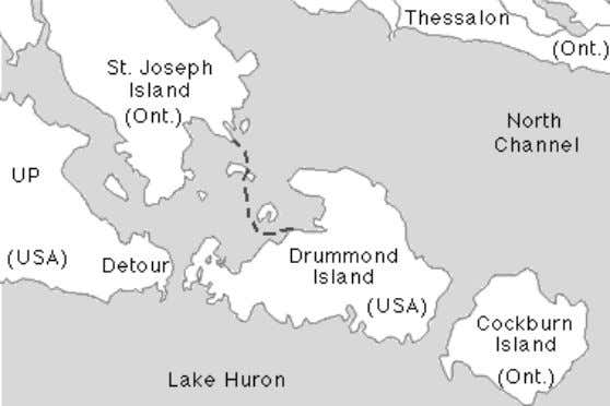 Drummond Island and St. Joseph's Island Contributed by Mark Bergen The British military post at Michilimackinac