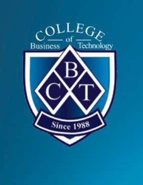 VISION CBT will be known for our quality graduates and the exceptional experience that we