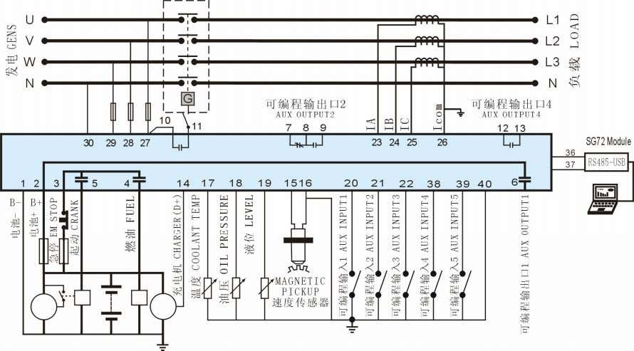 10 Typical wiring diagram HGM6110A Typical wiring diagram HGM6120A Typical wiring diagram HGM6110A/6120A _Auto Start