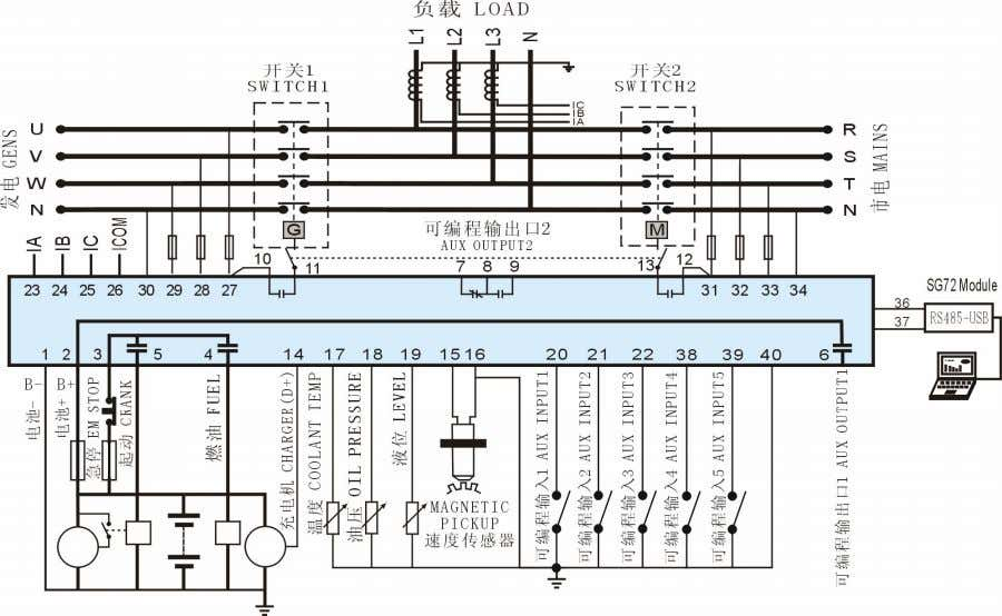 Typical wiring diagram HGM6120A Typical wiring diagram HGM6110A/6120A _Auto Start Module ISSUE 2010-04-07 Version
