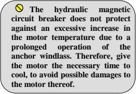 The hydraulic magnetic circuit breaker does not protect against an excessive increase in the motor