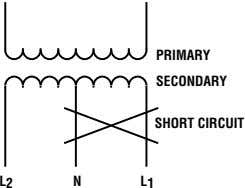 PRIMARY SECONDARY SHORT CIRCUIT L 2 N L 1