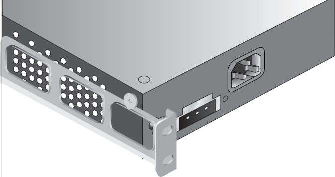 33 Figure 13 Fitting a rear rail bracket for rack-mounting 4 Insert the Switch into the