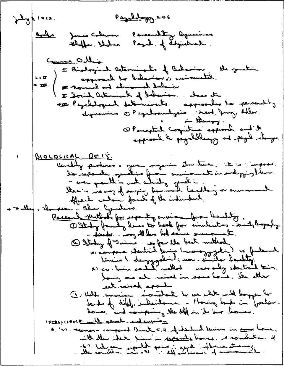 NOTING Fig 31 An example of traditionally 'good' university student's notes. See text on opposite page.