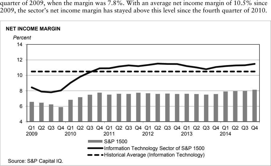 quarter of 2009, when the margin was 7.8%. With an average net income margin of