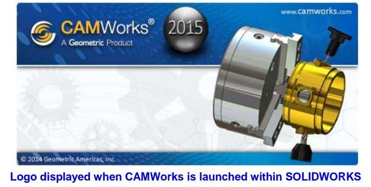 Logo displayed when CAMWorks is launched within SOLIDWORKS