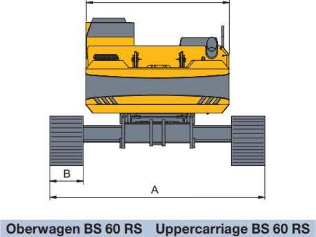 B A Oberwagen BS 60 RS Uppercarriage BS 60 RS