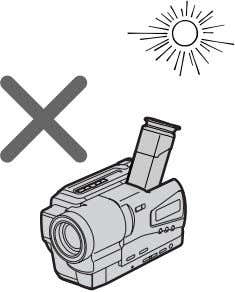 your camcorder to malfunction. Take pictures of the sun in low light coditions such as duck