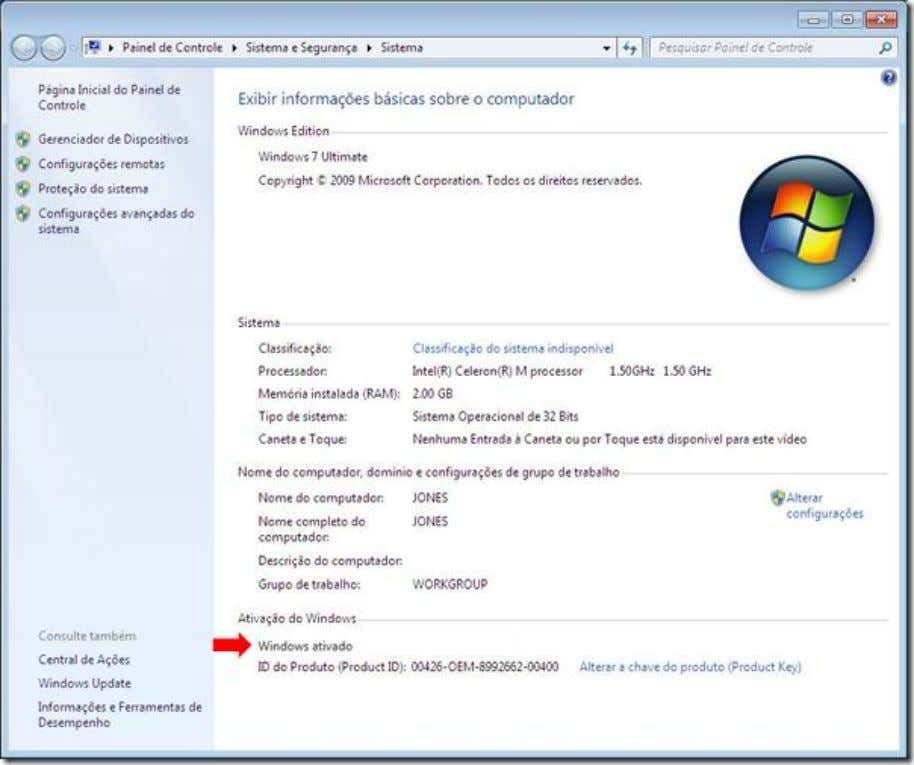 Voltando ao estado original Para voltar o Windows ao estado original de avaliação do software