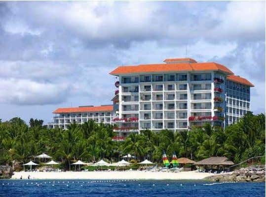 "Mactan Shangri-La • • • Location: Cebu, Philippines An ""ocean-to-shore"" theme of warm, golden sand and"