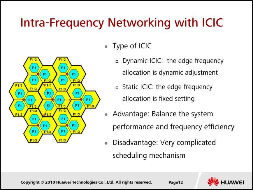 LTE Cell Planning  ICIC is a technology that mitigates inter-cell interference together with the scheduling