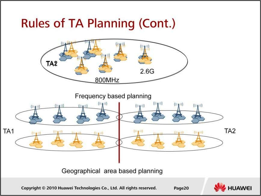 LTE Cell Planning  LTE can be operated on different frequency band, we can plan the