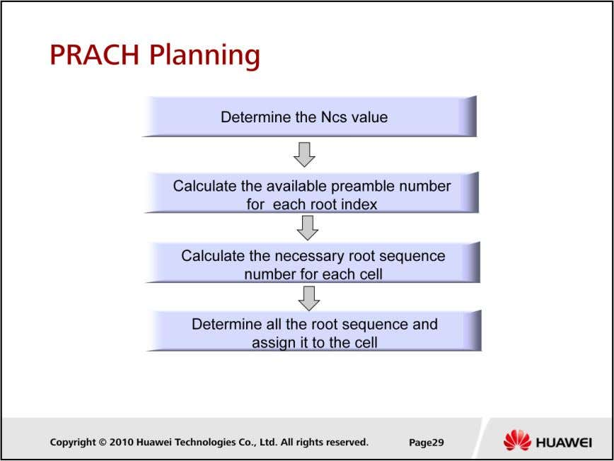 LTE Cell Planning  Here is an example for the root sequence planning, suppose the cell