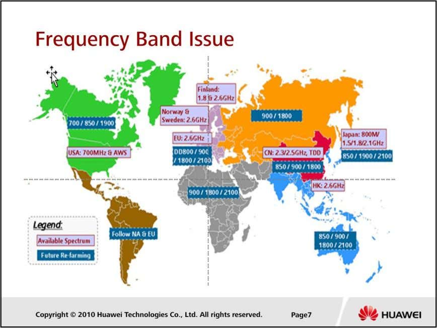 LTE Cell Planning  There are several new frequency band options for LTE, some of which