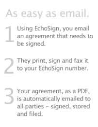 "Management and Investors EchoBlog Contact Us @Road turned to EchoSign for document delivery. ""The fact"