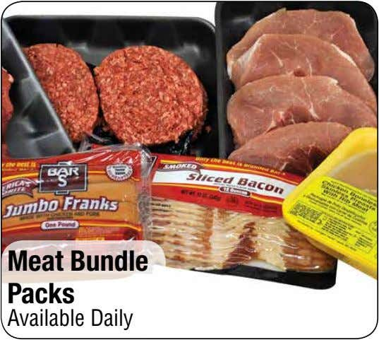 Meat Bundle Packs Available Daily