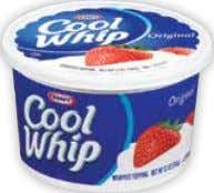 Ice Cream Selected Varieties 48 oz. $ 3 99 save $1.50 Cool Whip Whipped Topping $
