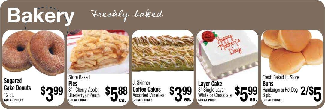 Bakery Store Baked Fresh Baked In Store Sugared Pies J. Skinner Layer Cake Buns Cake