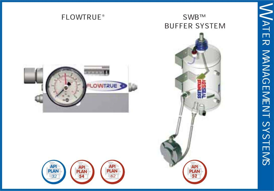 W ATER MANAGEMENT SYSTEMS FLOWTRUE ® SWB™ BUFFER SYSTEM 32 62