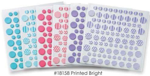 Fondant DecoShapes ® #18160 Printed Primary #18161 Printed Brown #18265 Printed Black Printed & Solid Dots